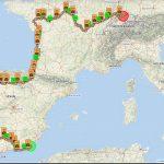 Mojacar-Santiago de Compostela-Nantes-Brugg (Live-Tracking)