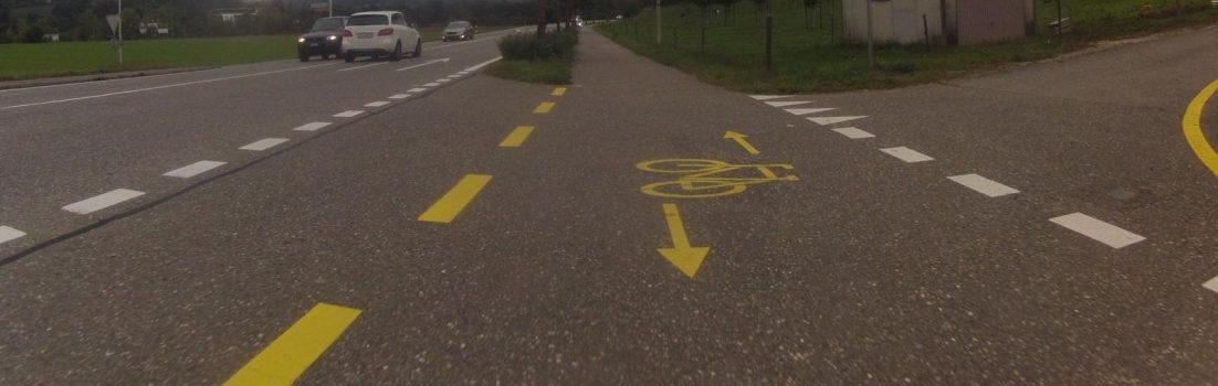Radweg von Untersiggenthal nach Siggenthal Station