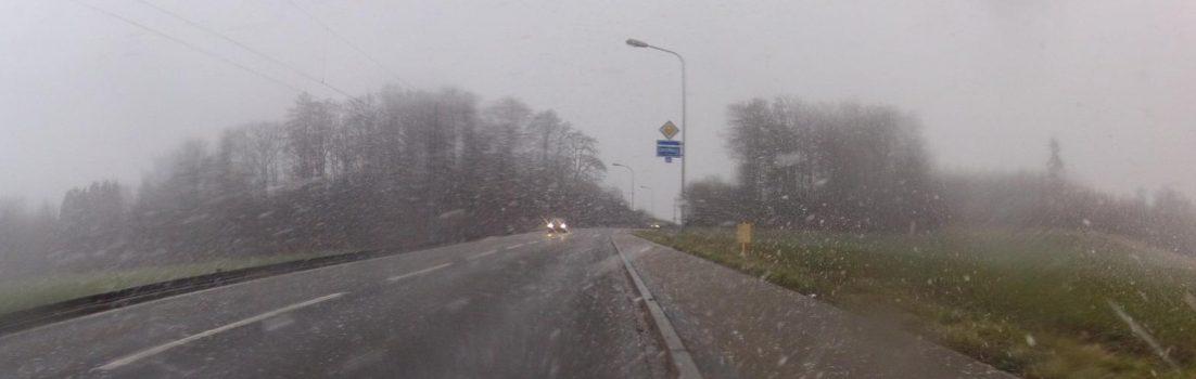 Schneegestöber in Seon