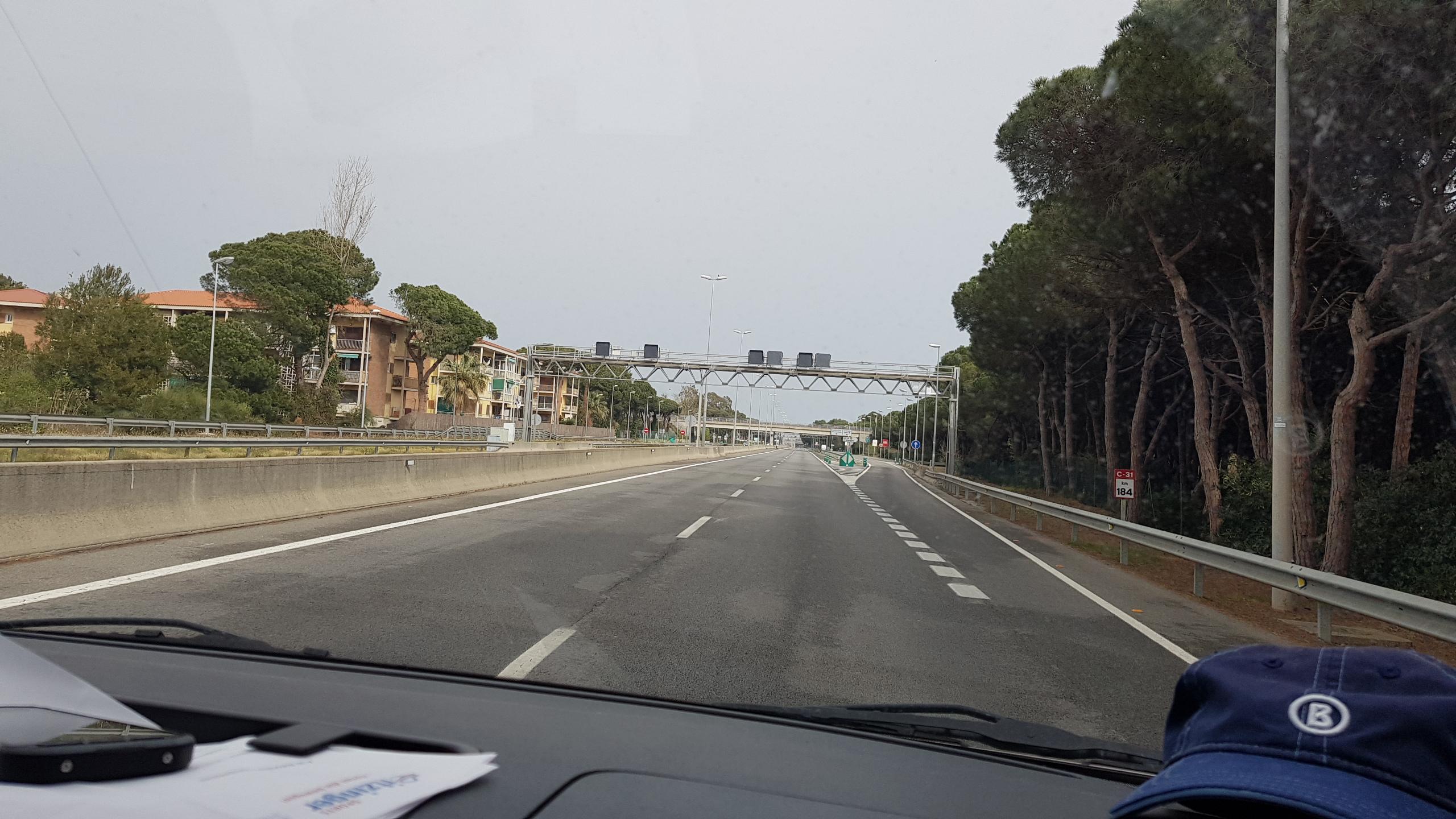 Flughafen-Autobahn in Barcelona