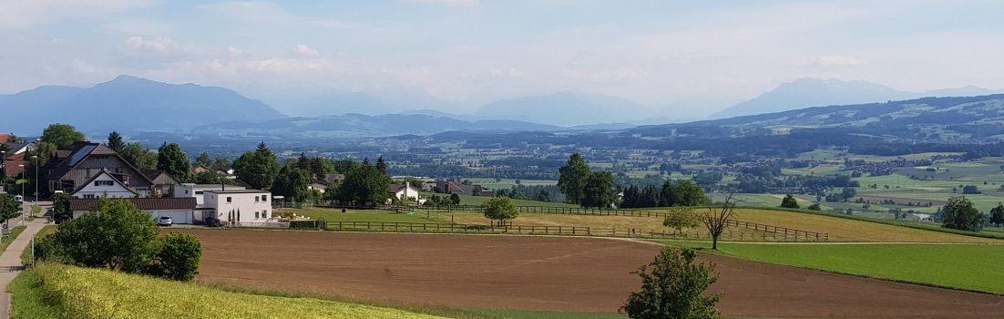 Oberwil, Blick über das Reusstal
