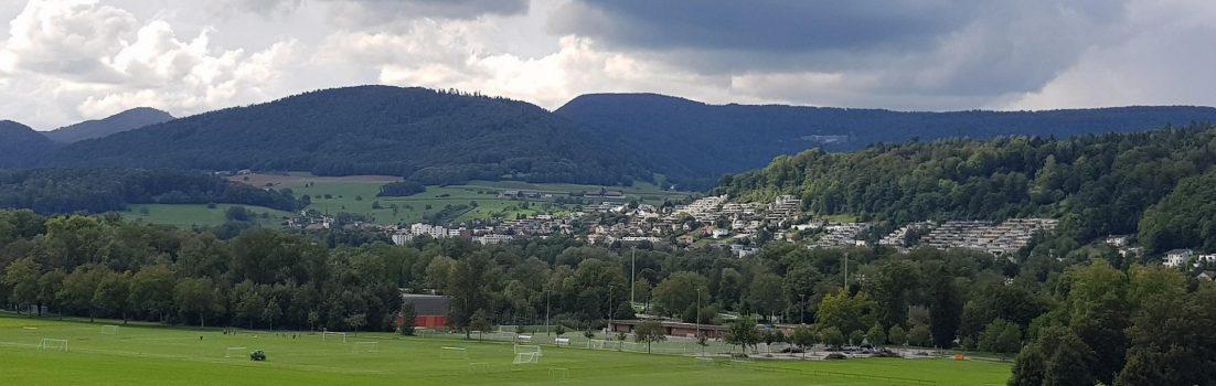 Blick über das Aaretal bei Aarau