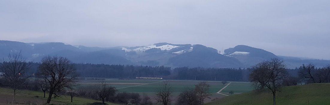 Blick von oberhalb Würenlingen in Richtung Rotberg