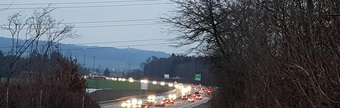Blick auf die A1 bei Mägenwil