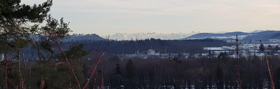 Blick in Richtung Alpen
