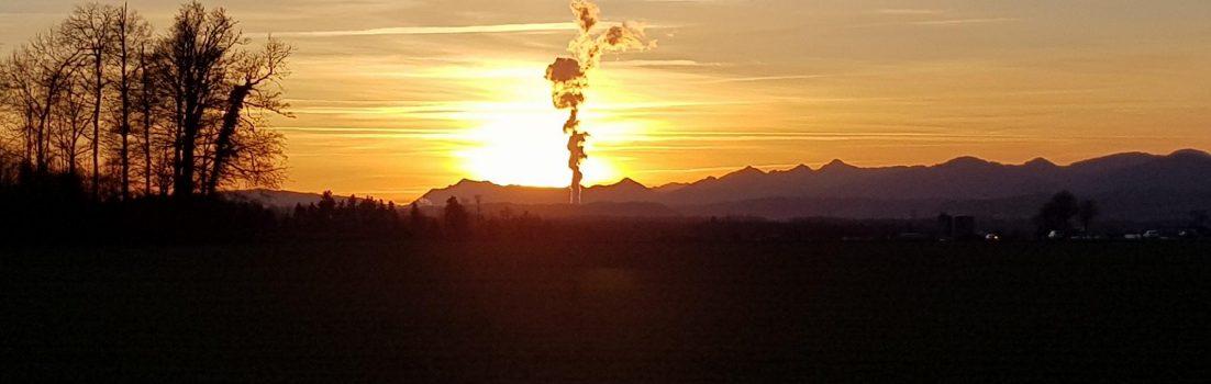 Sonnenuntergang über dem Aaretal