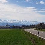 Auw, Blick in die Alpen